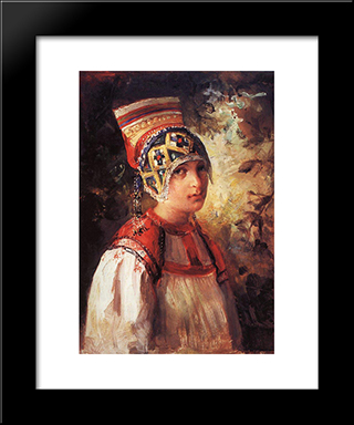 A Peasant: Modern Black Framed Art Print by Vladimir Makovsky