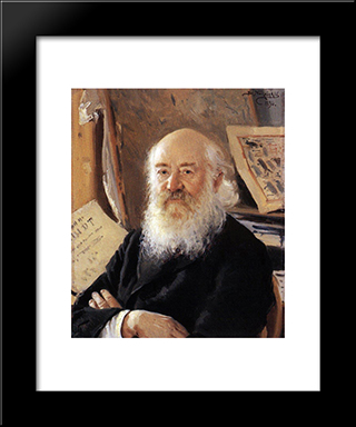 A Portrait Of Dmitry Rovinsky: Modern Black Framed Art Print by Vladimir Makovsky