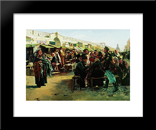 At Noon: Modern Black Framed Art Print by Vladimir Makovsky