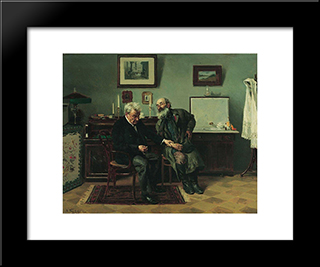 At The Doctor'S: Modern Black Framed Art Print by Vladimir Makovsky