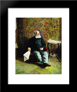 At The Porter'S Room: Modern Black Framed Art Print by Vladimir Makovsky