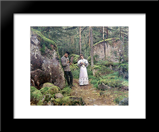 Before Explaining (Date): Modern Black Framed Art Print by Vladimir Makovsky