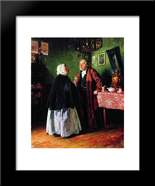 Congratulations: Modern Black Framed Art Print by Vladimir Makovsky