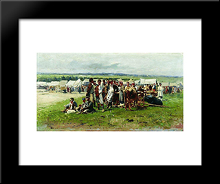 Fair: Modern Black Framed Art Print by Vladimir Makovsky