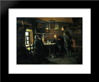 Fans Of Nightingales: Modern Black Framed Art Print by Vladimir Makovsky