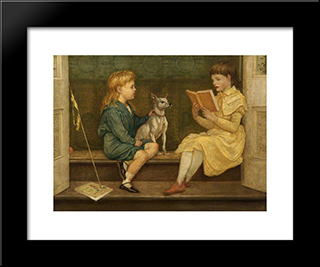 Beatrice And Lionel Crane: Modern Black Framed Art Print by Walter Crane