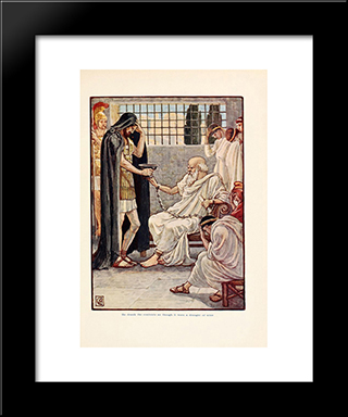 He Drank The Contents As Though It Were A Draught Of Wine: Modern Black Framed Art Print by Walter Crane