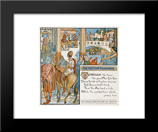 Illustration For The Man That Pleased None: Modern Black Framed Art Print by Walter Crane