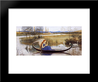 My Soul Is An Enchanted Boat...: Modern Black Framed Art Print by Walter Crane