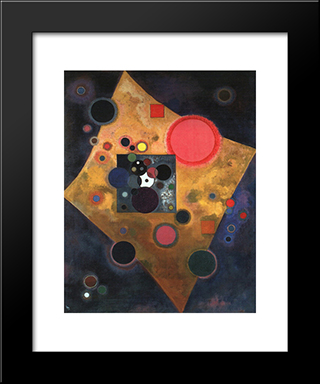 Accent On Rose: Modern Black Framed Art Print by Wassily Kandinsky