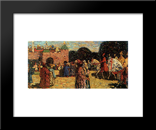 Ancient Russia: Modern Black Framed Art Print by Wassily Kandinsky