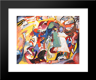 Angel Of The Last Judgment: Modern Black Framed Art Print by Wassily Kandinsky