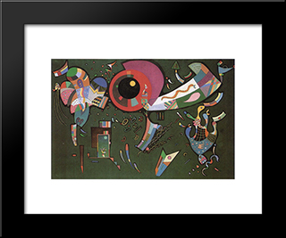 Around The Circle: Modern Black Framed Art Print by Wassily Kandinsky