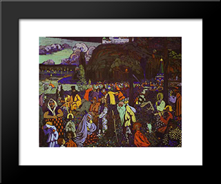 Colorful Life: Modern Black Framed Art Print by Wassily Kandinsky