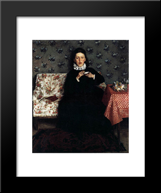 On The Sofa: Modern Black Framed Art Print by Wilhelm Trubner