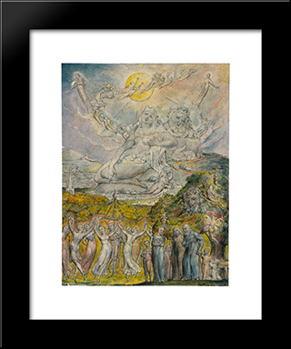 A Sunshine Holiday: Modern Black Framed Art Print by William Blake