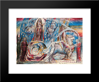 Beatrice: Modern Black Framed Art Print by William Blake