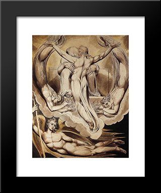 Christ As The Redeemer Of Man: Modern Black Framed Art Print by William Blake