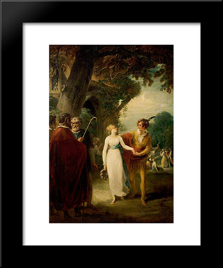 A Winter'S Tale', Act Iv, Scene 3, The Shepherd'S Cot: Modern Black Framed Art Print by William Hamilton