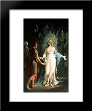 Calypso Receiving Telemachus And Mentor In The Grotto: Modern Black Framed Art Print by William Hamilton