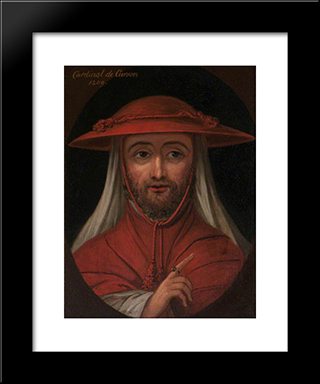 Cardinal Robert De Curzon (D.1218): Modern Black Framed Art Print by William Hamilton