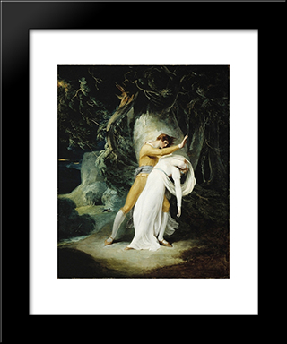 Celadon And Amelia: Modern Black Framed Art Print by William Hamilton