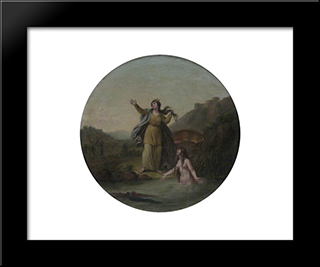 Ceres And Arethusa: Modern Black Framed Art Print by William Hamilton