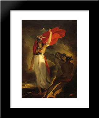 Joan Of Arc And The Furies: Modern Black Framed Art Print by William Hamilton