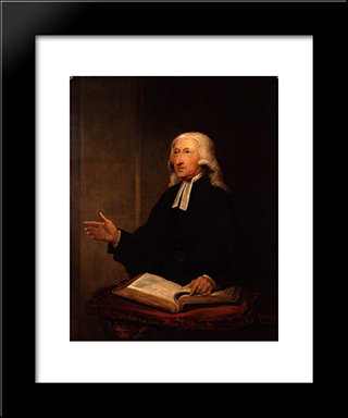 John Wesley: Modern Black Framed Art Print by William Hamilton