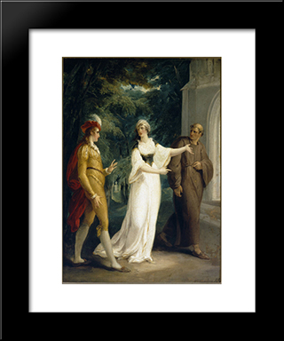Olivia'S Proposal: Modern Black Framed Art Print by William Hamilton