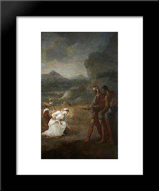 Ruth And Boaz: Modern Black Framed Art Print by William Hamilton