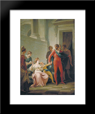 Scene From Shakespeare'S 'The Winter'S Tale' (Act Ii, Scene 1): Modern Black Framed Art Print by William Hamilton