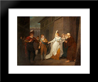 Twelfth Night' By William Shakespeare. Act V, Scene 1: Modern Black Framed Art Print by William Hamilton