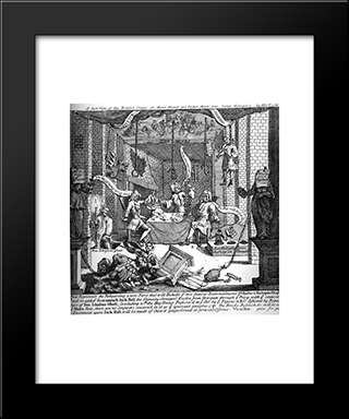 A Just View Of The English Stage: Modern Black Framed Art Print by William Hogarth