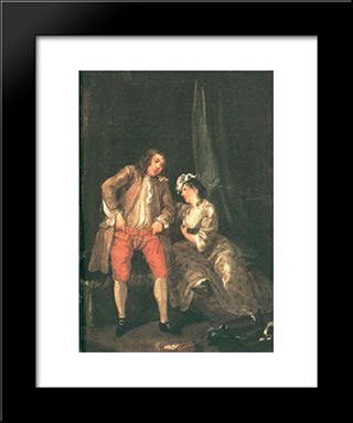 Before The Seduction And After: Modern Black Framed Art Print by William Hogarth