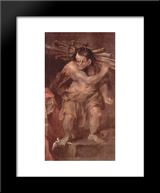 Caliban From The Tempest Of William Shakespeare: Modern Black Framed Art Print by William Hogarth