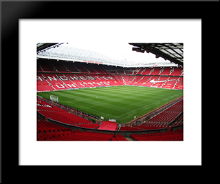 Manchester United Old Trafford: Modern Black Framed Art Print by Stadium Series