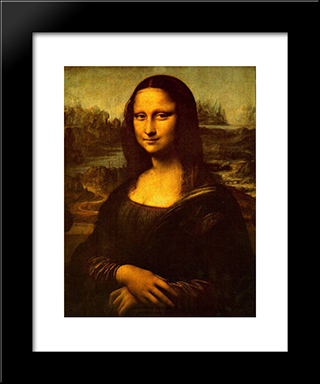 Mona Lisa: Modern Custom Black Framed Art Print by Leonardo Da Vinci