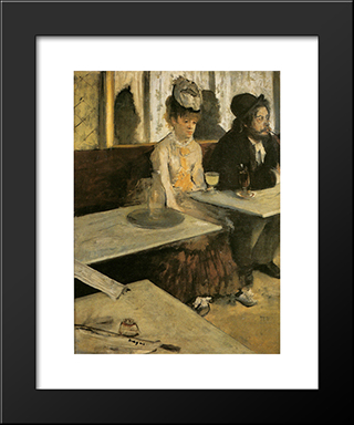 Absinthe: Modern Custom Black Framed Art Print by Edgar Degas