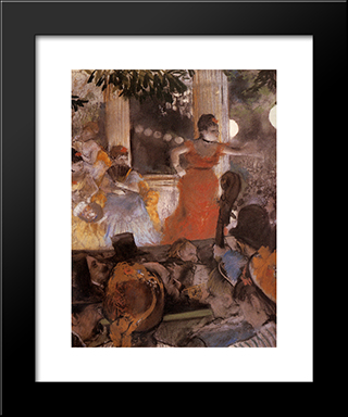 Aux Ambassadeurs: Modern Custom Black Framed Art Print by Edgar Degas