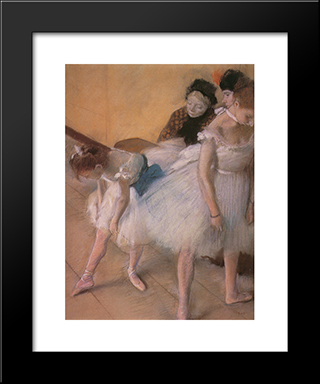 Before The Rehearsal: Modern Custom Black Framed Art Print by Edgar Degas