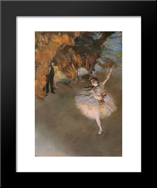 L'Etoile: Modern Custom Black Framed Art Print by Edgar Degas
