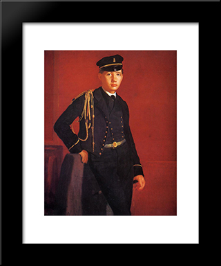 Achille De Gas In The Uniform Of A Cadet: Modern Custom Black Framed Art Print by Edgar Degas