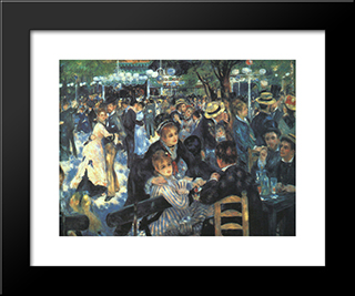 The Ball At The Moulin De La Galette: Modern Custom Black Framed Art Print by Pierre Auguste Renoir