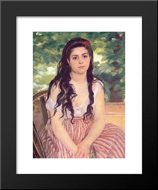Study, Summer: Modern Custom Black Framed Art Print by Pierre Auguste Renoir