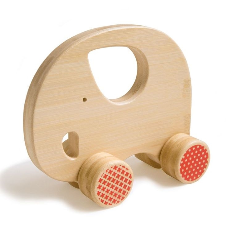 Push And Pull Toys : Wood teething toys elephant