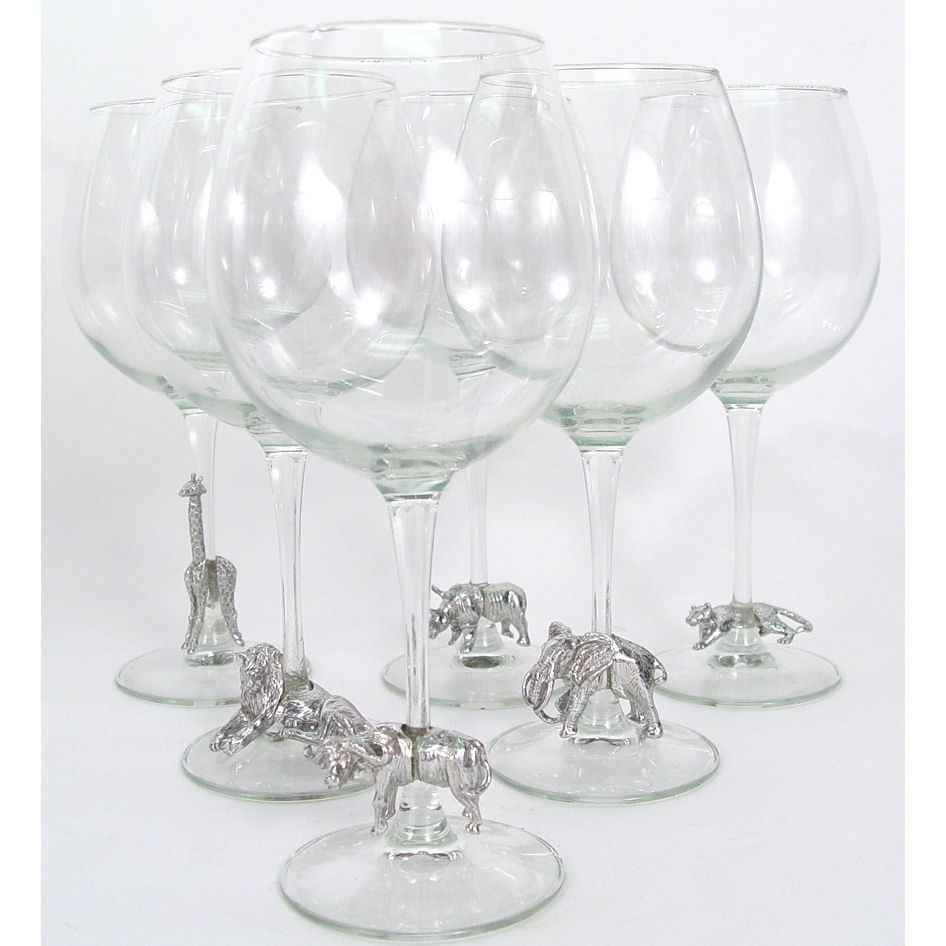 Just Cause Gifts For Her Pewter Safari Wine Glass Set