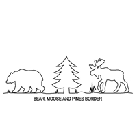Bear Moose and Pine Border