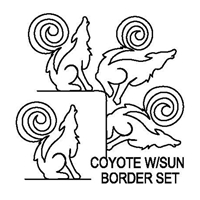 Coyote with Sun Border Set