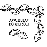Apple Leaf Border Set